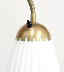 Swedish brass, Three-Light, Floor Lamp, 1940s