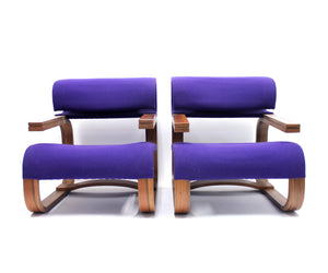Bentwood Easy Chairs by Jan Bočan for the Czechoslovakian embassy in Stockholm, 1972, Set of 2