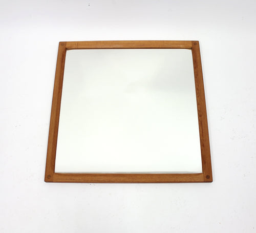 Danish Solid Teak Mirror by Kai Kristiansen for Aksel Kjersgaard, 1960s