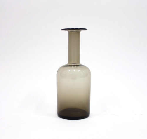 Smoke coloured medium sized vase by Otto Brauer for Holmegaard, 1960s