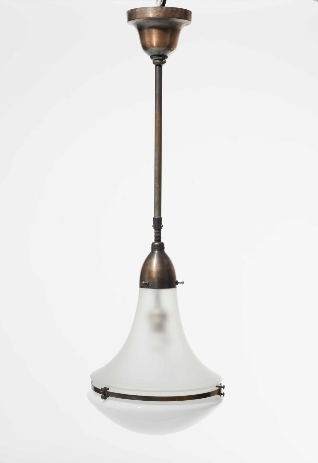 German Luzette Hanging Lamp by Peter Behrens, 1910s