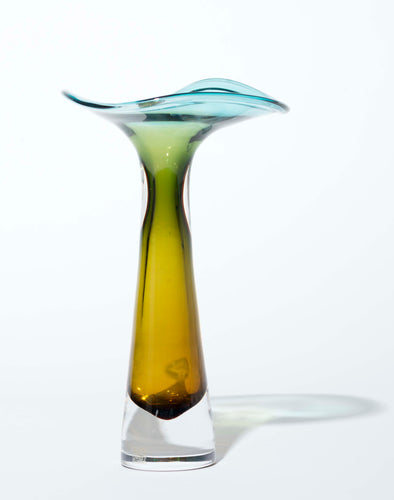 Swedish Glass Vase by Vicke Lindstrand for Kosta, 1950s
