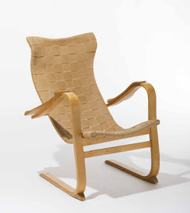 Swedish Patronen Birch Easy Chair by G.A. Berg, 1940s