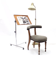 Load image into Gallery viewer, Antique mahogany reading chair, late 19th century