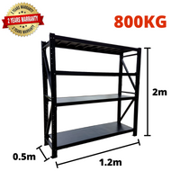 1.2m*2m*0.5m Metal Shelving 800KG BLACK