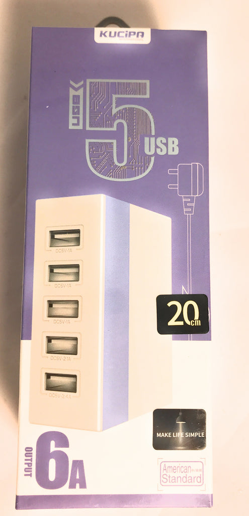Accessories:USB HUB WITH 5 USB PORTS 6A TOTAL