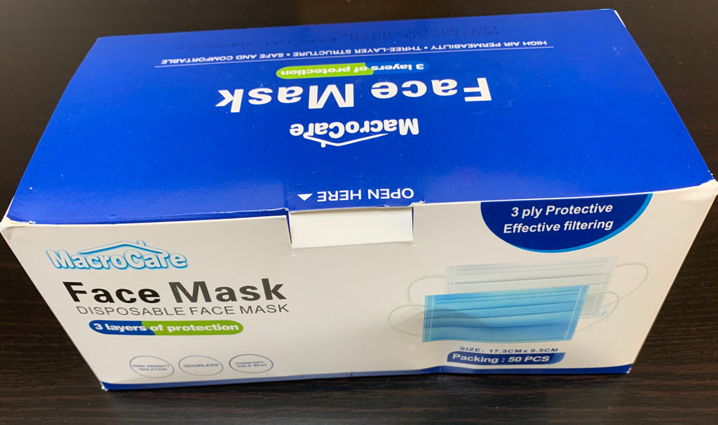 Box of 50 3-PLY EARLOOP FACE MASK (NON-MEDICAL)