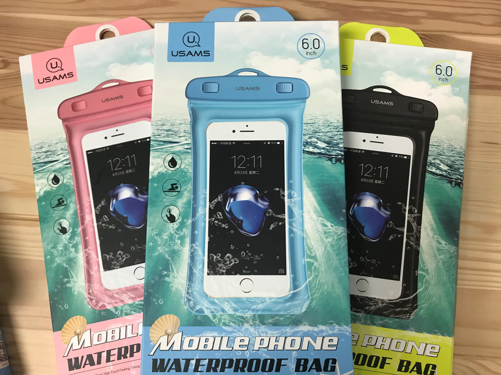 WATERPROOF CASES WITH FLOTATION  FITS LARGE PHONES