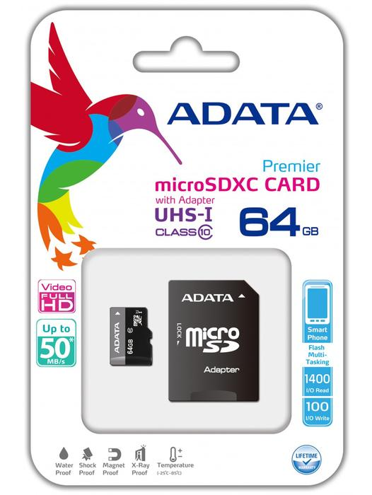 Accessories:Adata 64GB Memory card