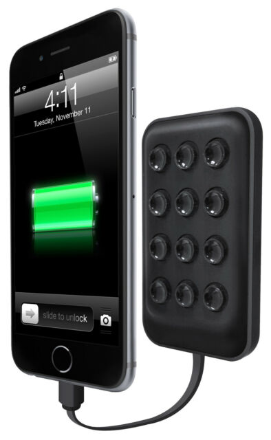 Emio Grippy 2800mAh Power Bank with Suction Cups