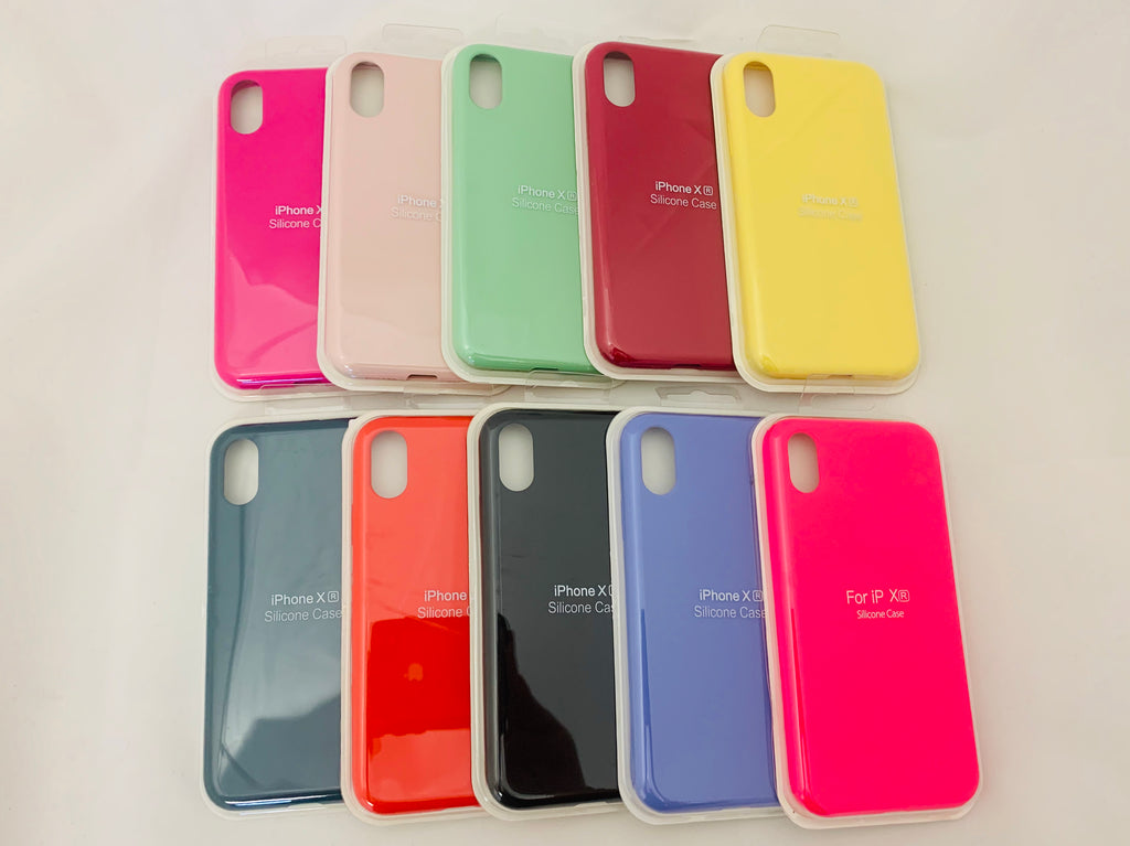 IPhone Silicone Candy Colored Cases
