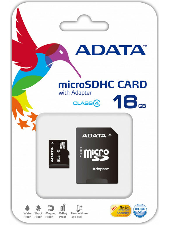 Accessories:Adata 16GB Memory Card