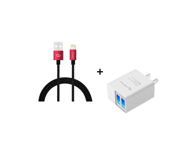 MOFUU 2M Lightning Cable and Fast Charger Combo