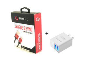 Accessories:MOFUU USB Type C and Fast Charger Combo
