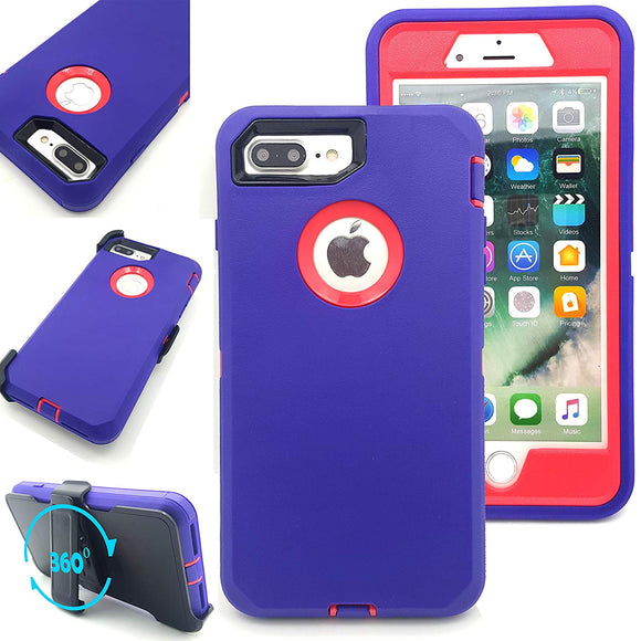CASES: IPHONE 7P/8P RUGGED CASE WITH BELT CLIP