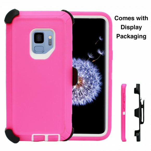 CASES: SAMSUNG GALAXY S9 RUGGED CASE WITH BELT CLIP