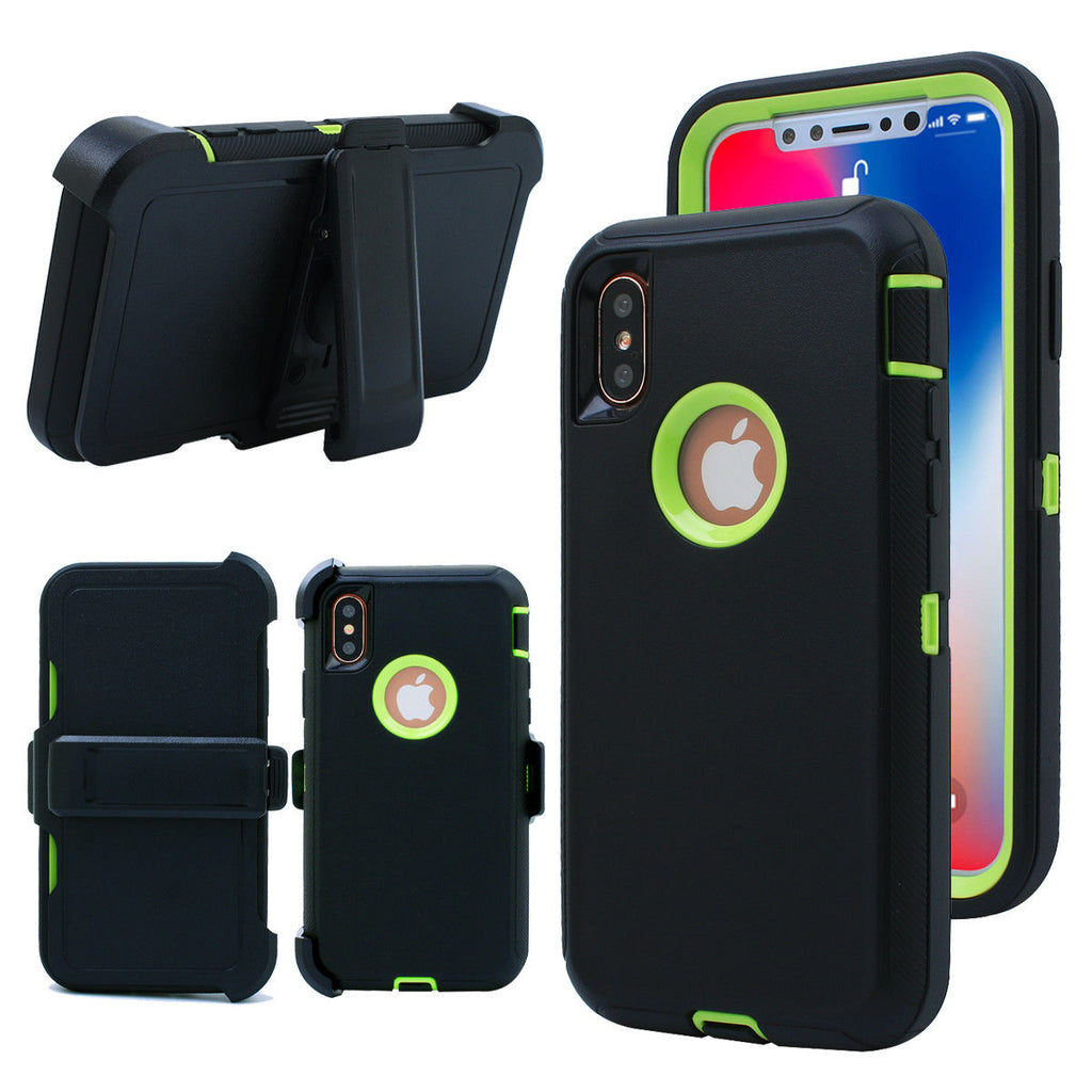 RUGGED Case with Belt Clip for IPHONE X, XR, XS MAX
