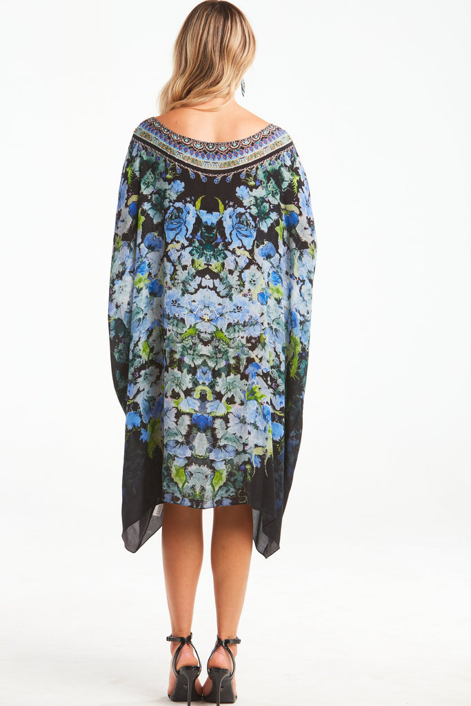 TRUE REFLECTIONS ROUND-NECK SHORT KAFTAN