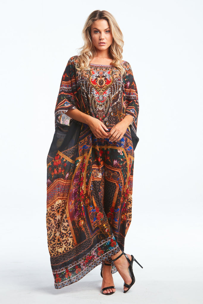 EMPOWER YOURSELF ROUND NECK LONG KAFTAN