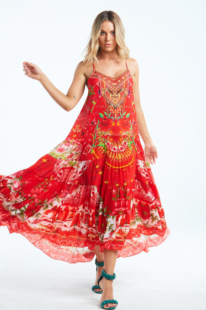 MORE THAN EVER MIDI BOHO DRESS