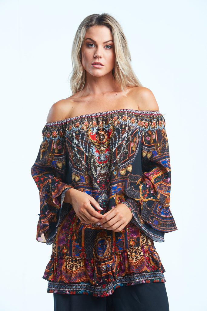 EMPOWER YOURSELF OFF SHOULDER TOP