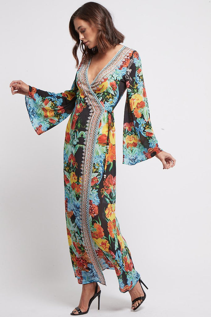 CUBAN NIGHTS WRAP DRESS