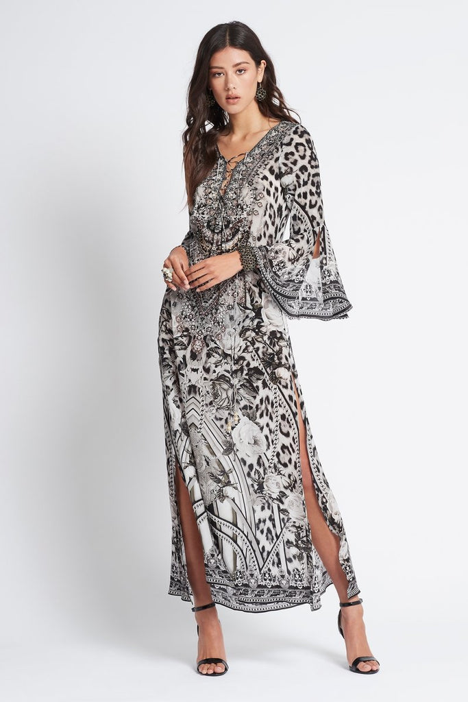 WILD AT HEART MAXI DRESS W SLEEVES