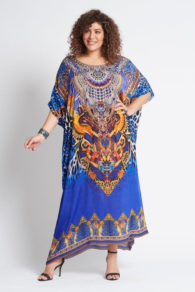 ROYAL SAVANNAH ROUND-NECK LONG KAFTAN
