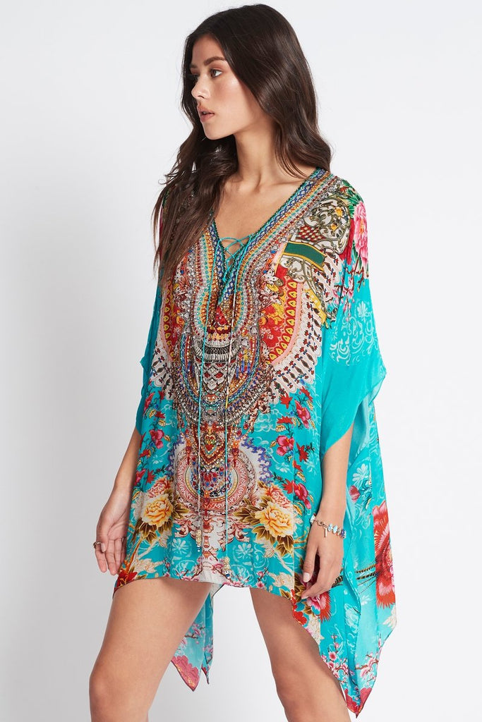 ONCE IN A BLUE MOON KAFTAN TOP