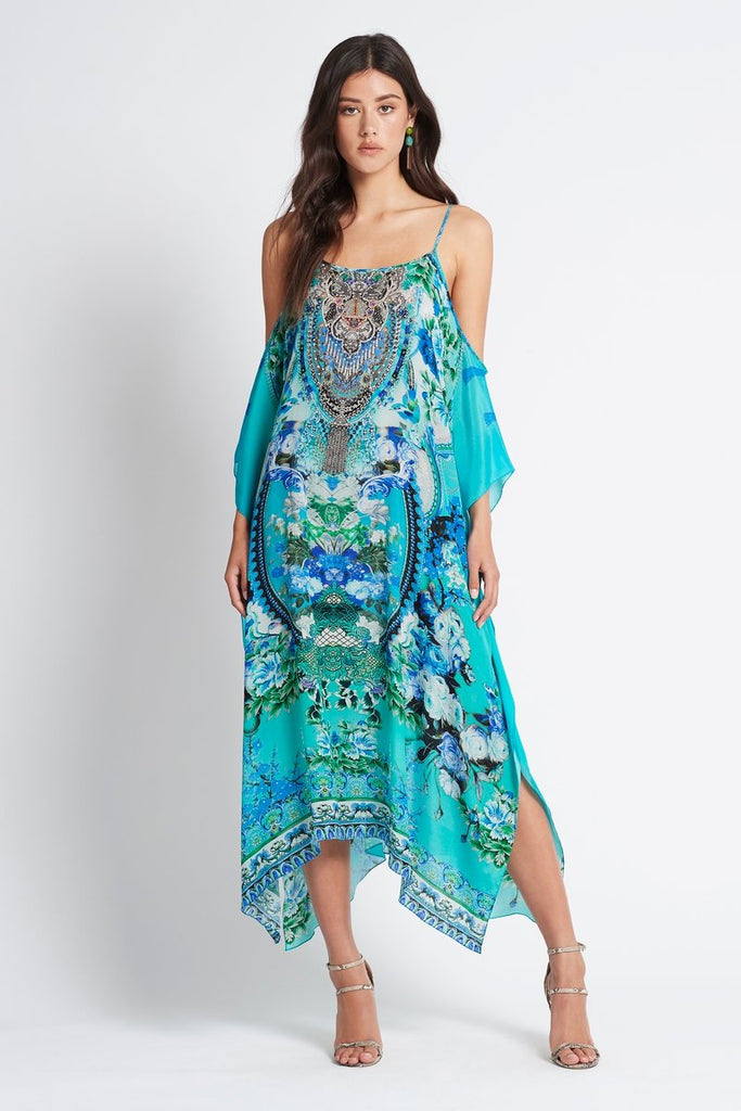 THOSE BLUE EYES COLD-SHOULDER MEDIUM KAFTAN