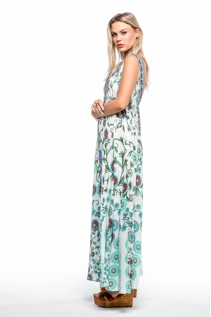 WHITE MILLEFORI MAXI DRESS