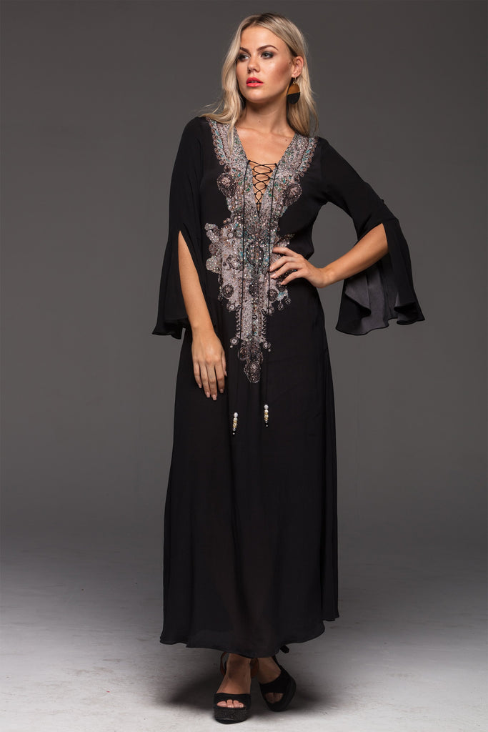 ALICE MAXI DRESS W SLEEVES