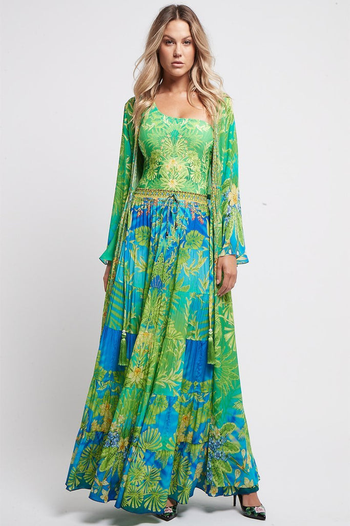 BETWEEN THE RAINDROPS MAXI SKIRT - Czarina