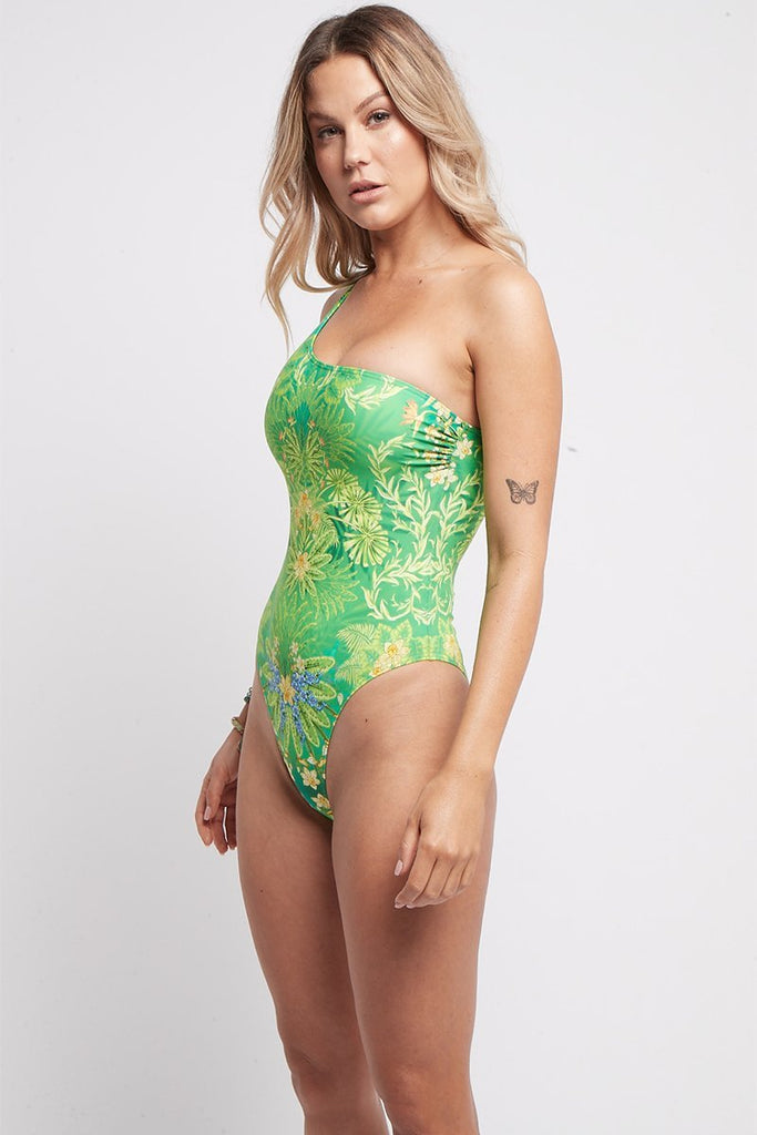 BETWEEN THE RAINDROPS ONE SHOULDER SWIMSUIT - Czarina