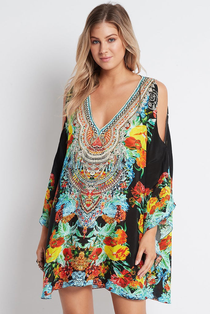 CUBAN NIGHTS KAFTAN DRESS - Czarina