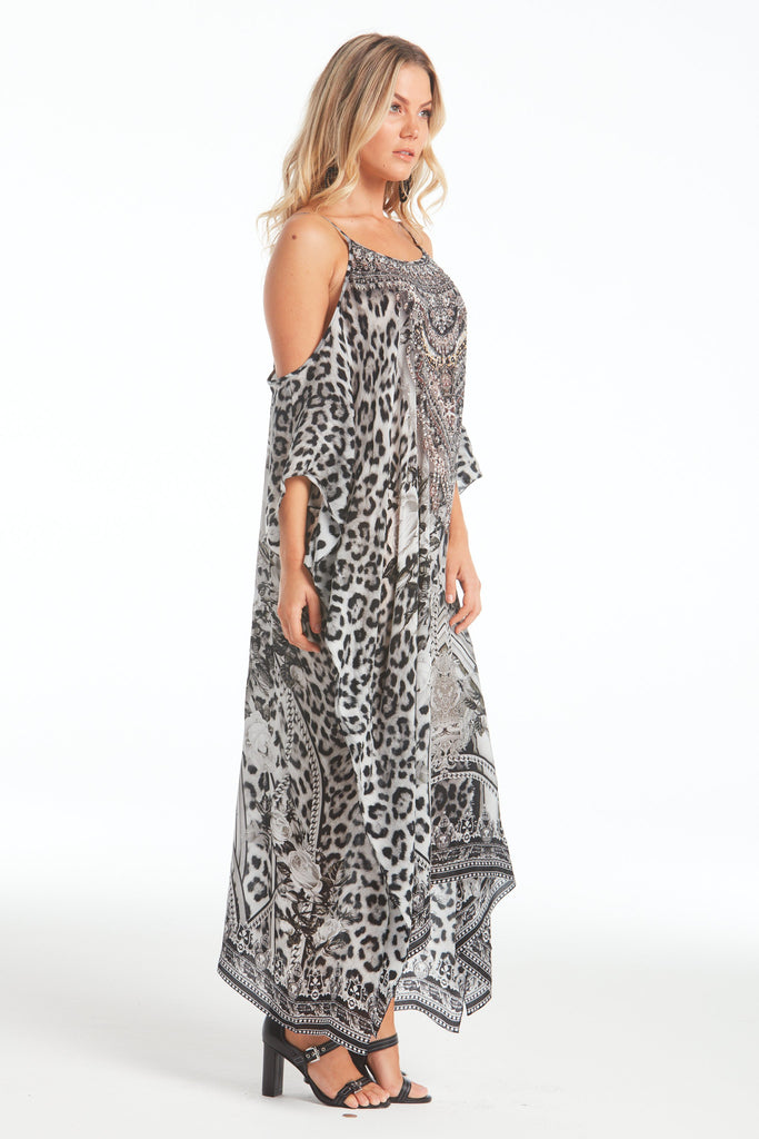 WILD AT HEART COLD-SHOULDER MEDIUM KAFTAN