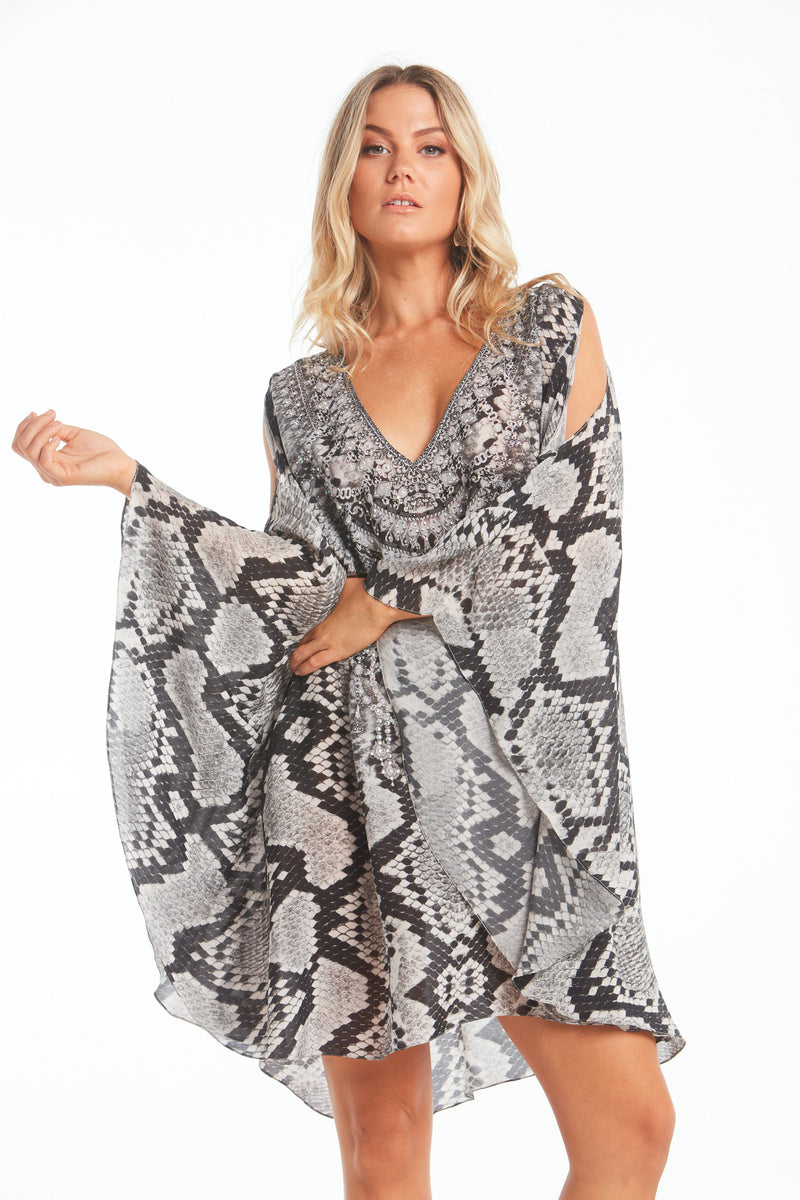 DESERT SNAKE KAFTAN DRESS