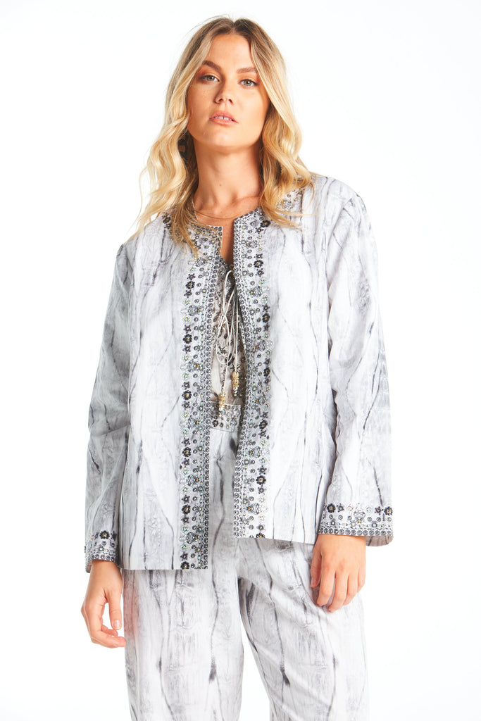 POISONOUS LOVE LINEN JACKET