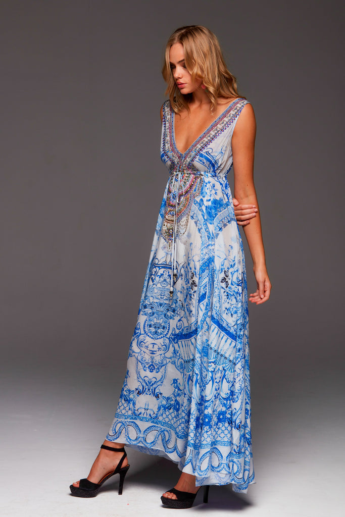 A DAY IN GREECE MAXI DRESS