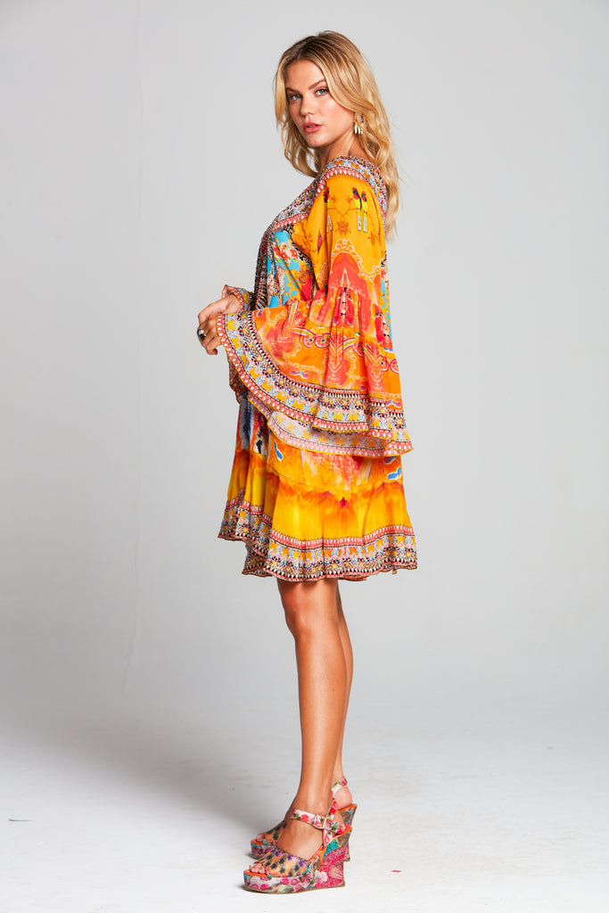 SUNSET KISSES FRILL DRESS