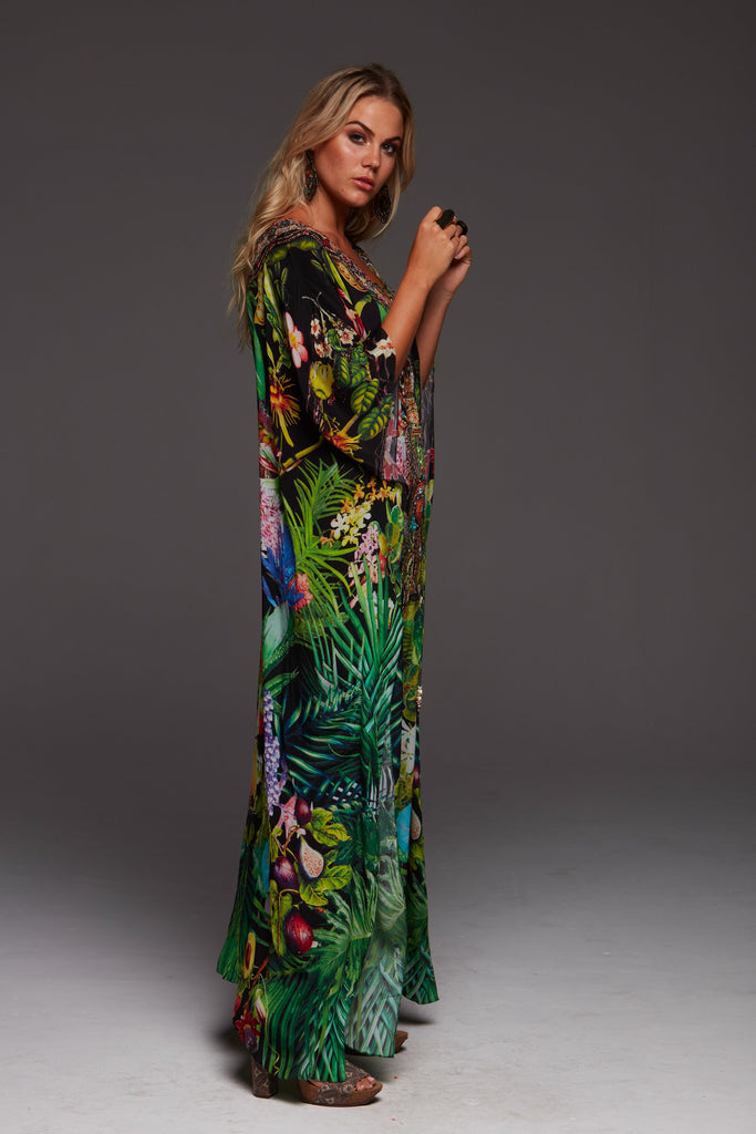 TROPICAL LOVE LONG KAFTAN