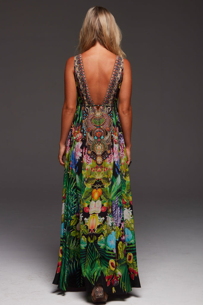 TROPICAL LOVE MAXI DRESS