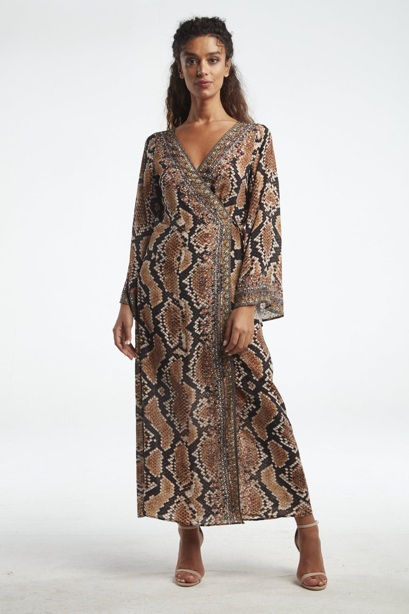 WILD DESERT WRAP DRESS