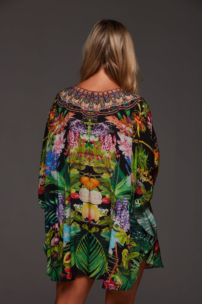TROPICAL LOVE BUTTERFLY TOP