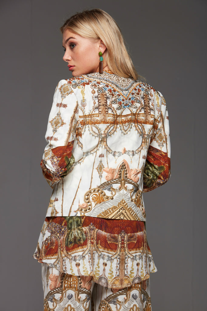 WHITE VINTAGE SILK JACKET