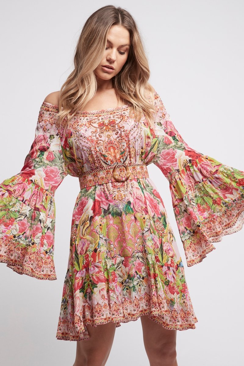 Every Flower Blossoms Frill Dress - Czarina