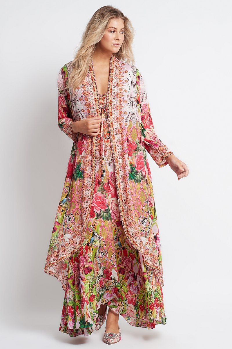 Every Flower Blossoms Long Jacket - Czarina