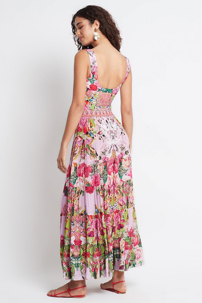 Every Flower Blossoms Maxi Skirt - Czarina