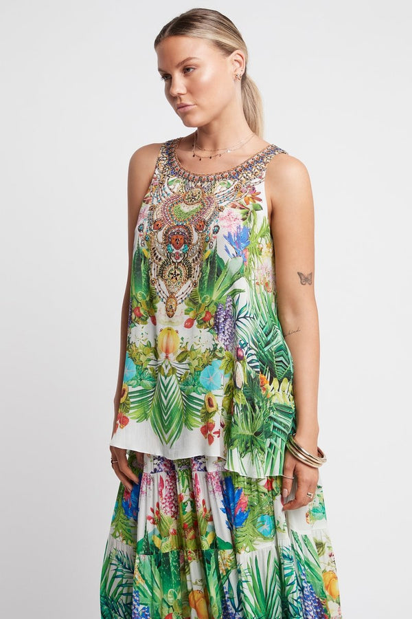 Love In Paradise Round Neck Tank Top