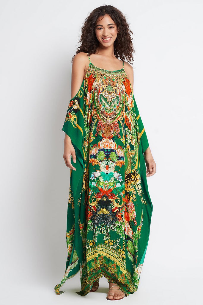 Make It Happen Cold-Shoulder Long Kaftan - Czarina